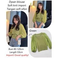 Dysan blouse import Hijau [Baju Atasan Wanita 0141] THN
