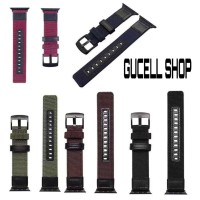 STRAP IWATCH CANVAS LEATHER 44MM 42MM 40MM 38MM APPLE WATCH 4 3 2 1