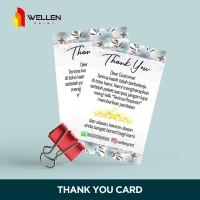 Tag Kartu Ucapan Terimakasih Thank You Card Olshop Custom Print 1 sisi