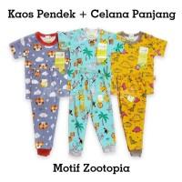 VELVET JUNIOR Piyama Anak Setelan Kaos Pendek + Celana Panjang SML