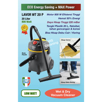 Vacuum Cleaner 20 L Low Watt High Power - Lavor WT 20 P (Plastic Body)