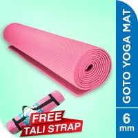 Goto Matras Yoga Mat Pvc 6 mm Anti Slip gym olahraga