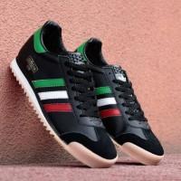 Sepatu sneaker pria adidas rom hitam list italy