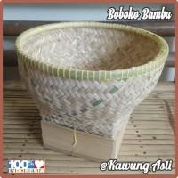 Bakul Wakul Sangkul Boboko Ceting Nasi tanpa Tutup dari Anyaman Bambu