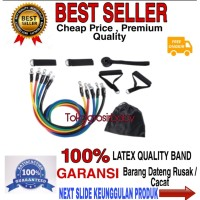 Resistance Band Bands isi 11 Set Alat Fitnes Portable Workout Gym Home