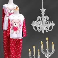 Baju Tidur merk 4U anak dan dewasa (Bear-love) kaos katun - 2