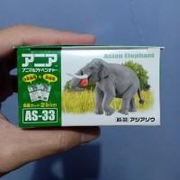 mainan binatang hewan Ania elephant gajah animal adventures apple apel