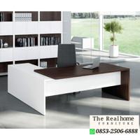 Meja Kantor/Meja kerja bentuk L Minimalis