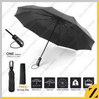 Payung Lipat Otomatis Buka Tutup Anti Sinat UV Tahan Angin Kokoh Jumbo