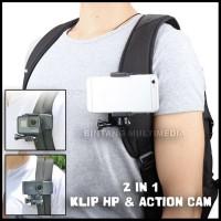 Klip Holder HP di Tali Strap Tas Dada GoPro Xiaomi Yi Handphone BM512