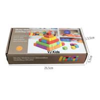 mainan montessori 100 pcs kubus early childhood education building blo