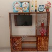 Bufet partisi minimalis,(Rak TV, Ruang tamu,) kayu jati belanda