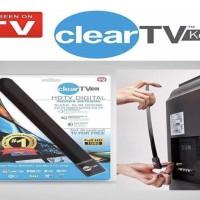 Antenna TV Indoor Dalam Ruangan Booster Digital Full HD 1080 ClearTV