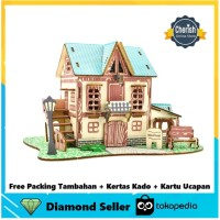 Wooden Puzzle House STAR HOTEL - Puzzle Kayu Rumah 3D | B-031