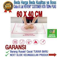Alas Rolling Kue Bahan Silikon Tebal Untuk Adonan Kue Ukuran 50×40 Cm