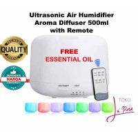 Ultrasonic Aroma Diffuser Humidifier 500ml Aroma Terapi