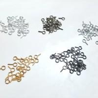 Eye Pin Screw 10x5mm Bail Peg for Half-drilled Beads Bahan Craft