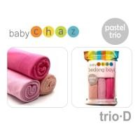 BABY CHAZ BEDONG AN Pastel TRIO Penutup Stroller Menyusui Selimut 3 pc