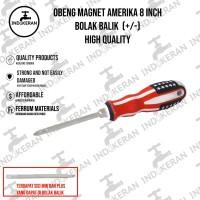 INDOKERAN - Obeng Magnet Amerika Bolak Balik - 8 Inch