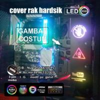 AKSESORIS PC COVER RAK HARDISK 3 PIN ARGB LOGO CUSTOM SYNC MOBO