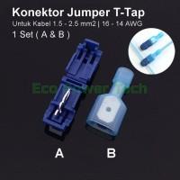 Konektor Kabel Jumper T-Tap 1.5-2.5mm 16-14 AWG Scotch Lock - BIRU