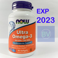 Now Foods Ultra Omega-3 500 EPA/ 250 DHA isi 90 Softgels
