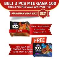 GAGA 100 Goreng Extra Pedas Jalapeno 3pcs dan Lada Hitam 2pc (GG48)