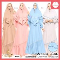 FS040 Baju Gamis Syari Wanita Lisa Dress Muslim All Size