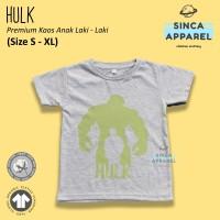 Baju Kaos Anak Cowok Laki - Laki Hulk Superhero Premium