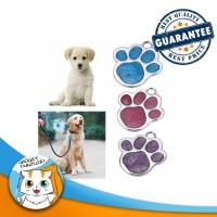 Paw Collar Tag / Bandul Liontin Anjing Kucing  Kalung Nama Pet Id