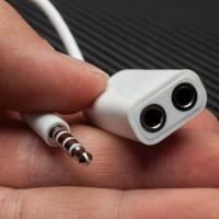 Audio Mic Spliter Adapter Hf Headset Headsfree Aux 2 Cabang / SPLITER