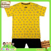 Setelan Baju/Kaos Anak Motif Minion Fullprint 1 - 10 Tahun