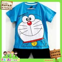 Setelan Baju/Kaos Anak Motif Doraemon 1 - 10 Tahun