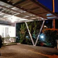 canopy baja ringan tiang V atap spandek pasir wa 081389013598