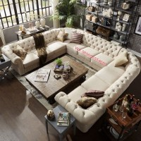 sofa minimalis/ sofa chesterfild / kursi tamu / sofa kayu jati landa U