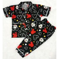 Piyama Anak/Baju Tidur Anak Perempuan Terlaris - Hitam, 11-12 thn