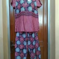 setelan batik baju tidur gogo kulot kencana ungu HAP oleh oleh jogja