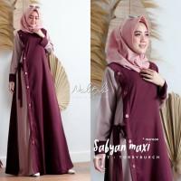 Baju Gamis Wanita Terbaru Termurah Zalea Dress Syari Muslim Kekinian