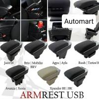 Console Box Armrest jazz brio mobilio brv w/ usb charging High Quality
