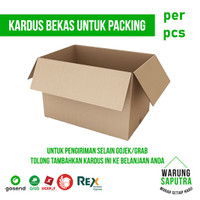 Kardus Bekas untuk Packing Pengiriman Kurir SiCepat / REX / Lion
