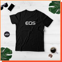 Kaos T-Shirt CANON EOS LOGO KAMERA Cotton Combed 30S Standar Distro