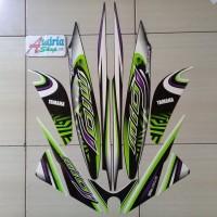 Striping Stiker Motor Yamaha Mio J Sporty 2013 Hitam-Putih-Hijau