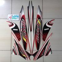 Striping Sticker Motor Yamaha Mio J Sporty 2013 Hitam-Merah