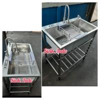 Bak Cuci Piring Portable Westafel Kitchen Sink Cuci Piring wastafel 75