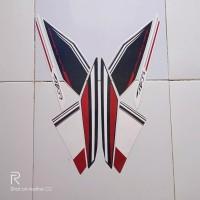 Striping sticker lis yamaha new vixion advance 2015 putih hitam