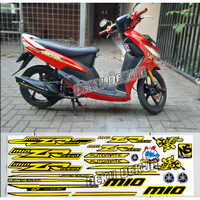 Striping Sticker Motor Mio Sporty Smile Model Thailand Cuting Mesin