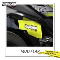 Hayaidesu Mud Flap Penahan Lumpur Motor Honda Beat FI - Japan Quality
