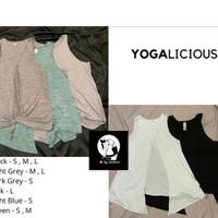 Yogalicious - sport tank top tie back (zumba,fitness,yoga)