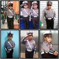 Baju polisi lalu lintas anak laki laki Kostum polantas anak
