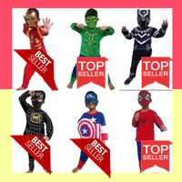 Kostum baju anak avenger Hulk spiderman captain america iron man